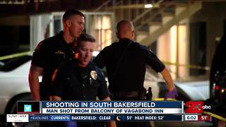 Man shot at Vagabond Inn in South Bakersfield - Video
