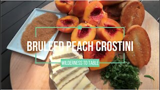 Bruleed Peach Crostinis | Bri Van Scotter | Wide Open Eats