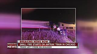 Amtrak train from Milwaukee catches fire in Chicago - Video