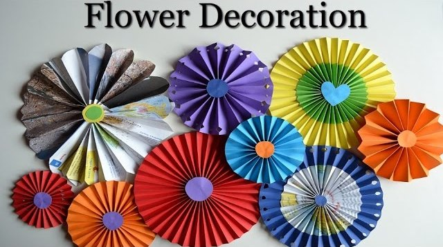 Diy Wall Decorations How To Make Paper Rosette Flowers