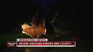 Storm damage reported in Erie County - Video