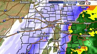 Wintry mix to snow. - Video