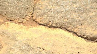 Mars Perseverance Rover Captures Up-Close Images of Martian Rock