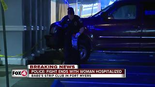 Fight at Babe's Strip Club sends woman to hospital - Video