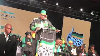 Let's talk about reigniting SA economy at #ANCNPC - Zuma (njw)