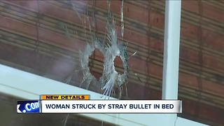 Woman living on Cleveland's east side shot in leg by stray bullet while sleeping - Video