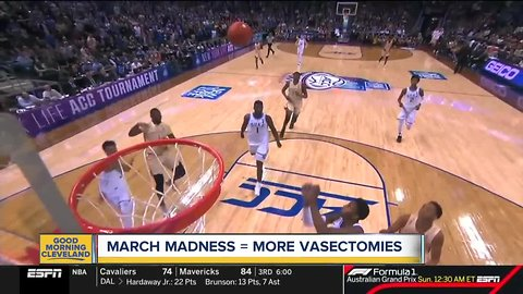 Cleveland Clinic: More vasectomies are scheduled in March because of NCAA Tournament