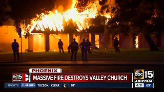 Large fire breaks out at north Phoenix Catholic church