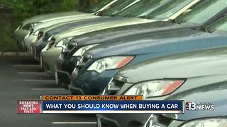 What you need to know when buying a car - Video