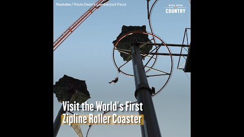 Visit the World's First Zipline Roller Coaster