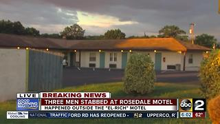 3 men stabbed at the El Rich Motel in Rosedale - Video