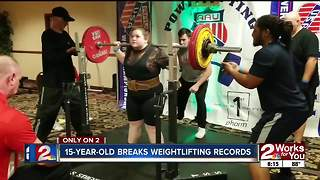 15-year-old breaks weightlifting records