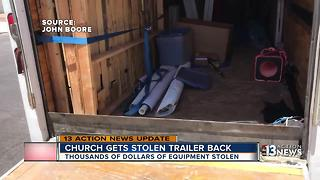 Missing trailer found ransacked and abandoned - Video