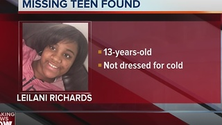 Milwaukee police locate 'critically missing' 13-year-old girl - Video