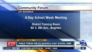 27J schools meeting about 4-day school week - Video