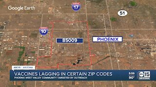 Vaccines lagging in certain Arizona zip codes
