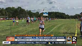 Student athlete of the week Haley Cummins from C. Milton Wright High School