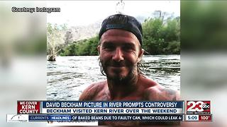 David Beckham sparks controversy with photo in Kern River