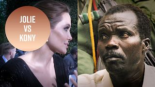 Angelina Jolie was game to capture a war lord - Video