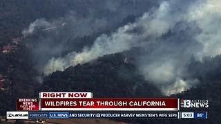 Wlidfires continue in California - Video