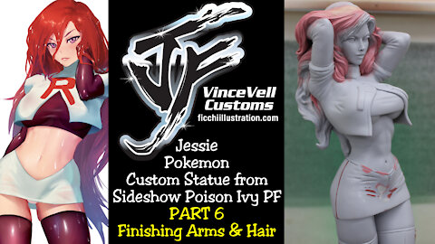 Jessie Pokemon Custom Statue Part 6 FInishing Up Sculpt Work Arms & Head