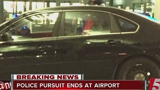 Police Pursuit Ends At Nashville Airport - Video