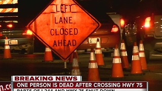 One Dead After Attempting To Cross Highway 75