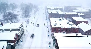 Drone Footage Captures Winter Storm in Vermont - Video