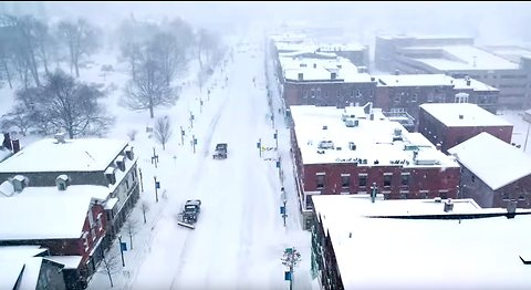 Drone Footage Captures Winter Storm in Vermont