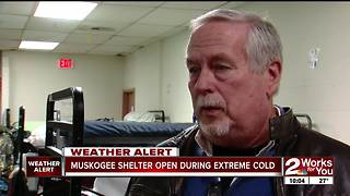 Muskogee shelter open during extreme cold - Video