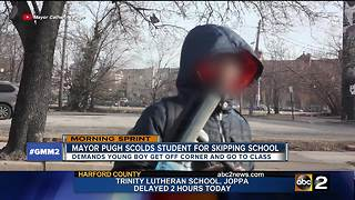 Video released shows Mayor Pugh telling kid to go back to school - Video