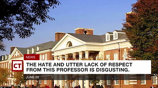 """School Fires Professor Who Said Otto Warmbier """"Deserved"""" To Die - Video"""