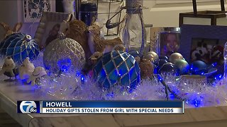 Christmas presents stolen from Howell girl with special needs - Video