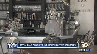 Well-known San Diego restaurants closing