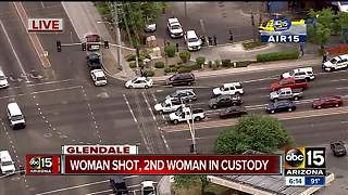 Air15 over shooting in Glendale, 1 hospitalized - Video