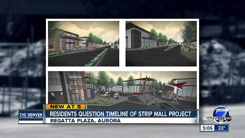 Aurora residents near old Regatta Plaza construction site want more transparency on site's future