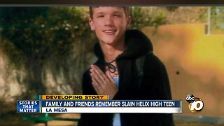 Family and friends remember slain Helix High teen