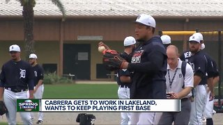 Miguel Cabrera gets to work at Spring Training, discusses role