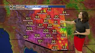 High of 105 expected in Phoenix on Wednesday - Video