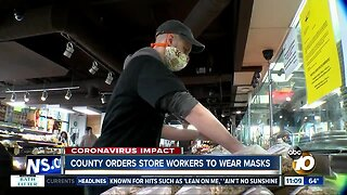 County orders store workers to wear masks