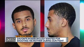Detroit's Most Wanted: Davonte Roseborough is accused of shooting his own father