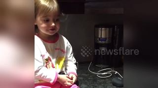 Too cute! Adorable 2-year-old asks Google Home to sing 'Twinkle Twinkle' - Video