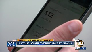 San Diego Instacart shoppers concerned about pay changes - Video