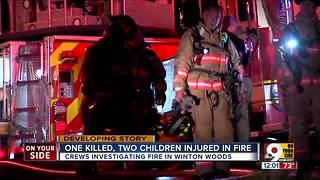 1 killed, 2 children injured in fire