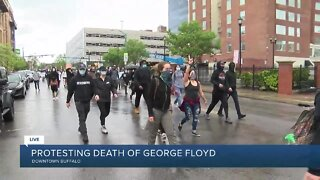 George Floyd protesters march in Buffalo