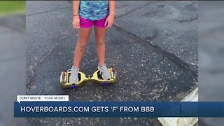 Hoverboards.com gets 'F' from Better Business Bureau