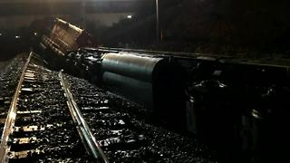 Official: Washout may have caused freight train derailment - Video