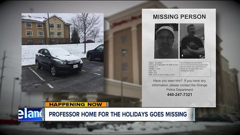 Pennsylvania professor visiting Orange Village for Thanksgiving reported missing by family