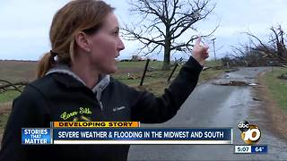 Severe weather & flooding in the midwest and south - Video
