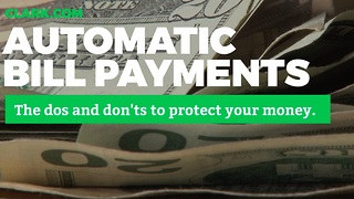 Automatic bill pay: How it works, setting it up and the dangers to avoid - Video